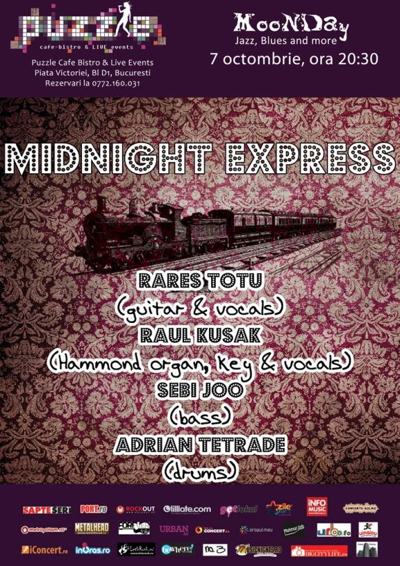 Midnight Express la serile MooNDay Jazz, Blues and More din Puzzle