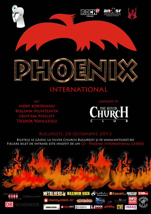 Phoenix revine in Bucuresti in cadrul unui concert inedit in clubul The Silver Church