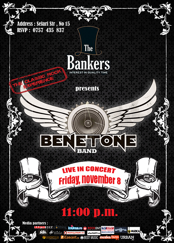 BENETONE Band LIVE in The Bankers din Bucuresti
