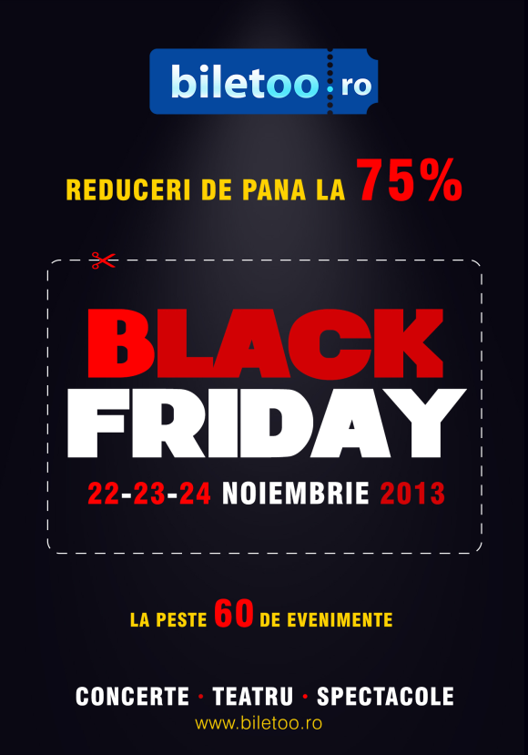 Black Friday se transforma in Black Weekend la Biletoo.ro