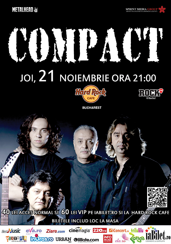 Concert Compact in Hard Rock Cafe din Bucuresti