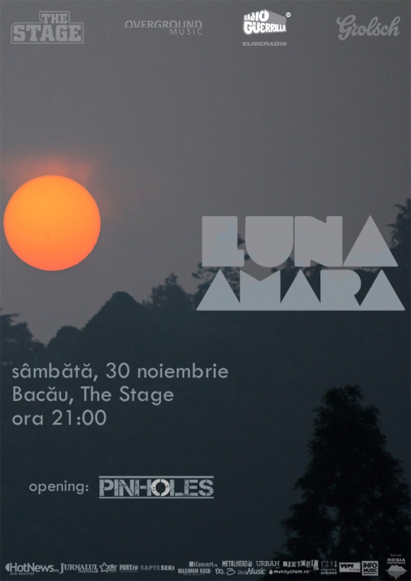 Concert Luna Amara si Pinholes in The Stage din Bacau
