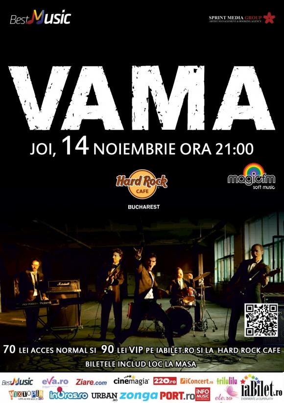Concert VAMA in Hard Rock Cafe