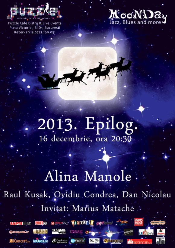 Concert Alina Manole in Puzzle Cafe Bistro & Live Events - 2013. Epilog.