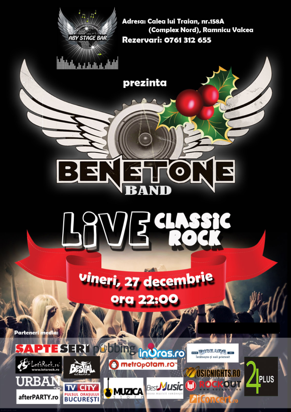 Concert BENETONE Band in Aby Stage Bar din Ramnicu Valcea