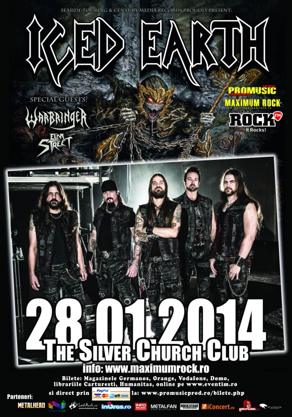 Program si reguli de acces la Iced Earth in The Silver Church