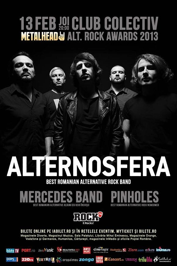 Alternosfera, Mercedes Band si Pinholes la Metalhead Alt.Rock Awards 2013 in Club Colectiv