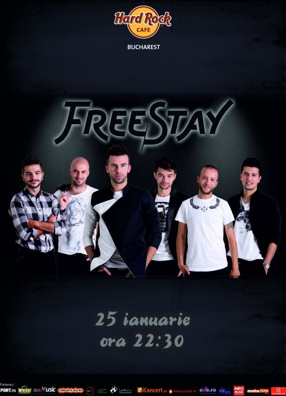 Concert FreeStay in Hard Rock Cafe din Bucuresti