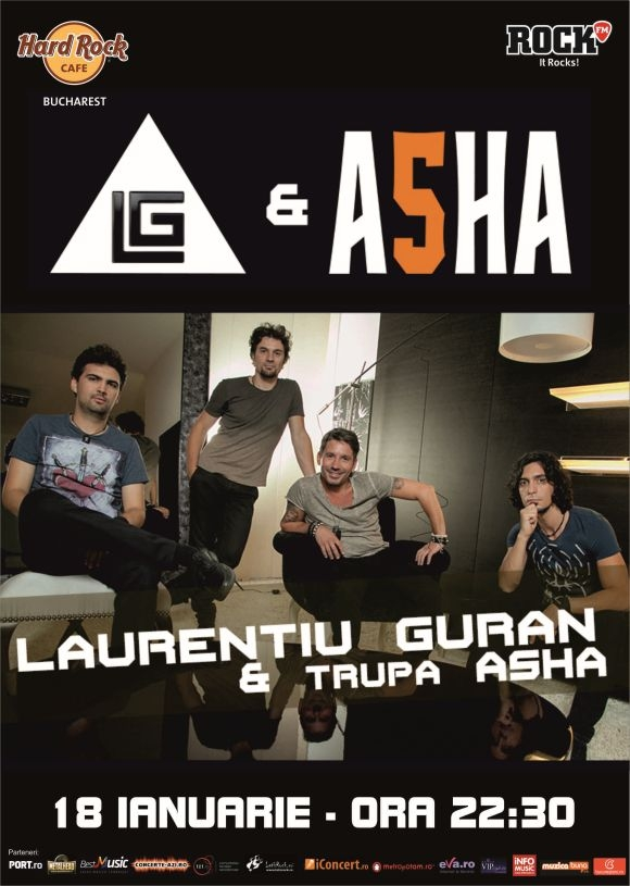 Concert Laurentiu Guran si Asha la Hard Rock Cafe Bucuresti