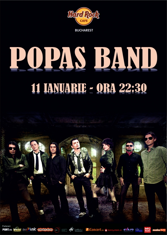 Concert Popas Band la Hard Rock Cafe din Bucuresti