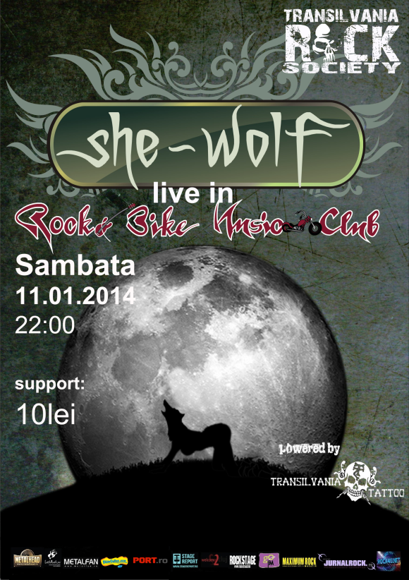 Concert She Wolf in Rock&Bike Music Club Sibiu