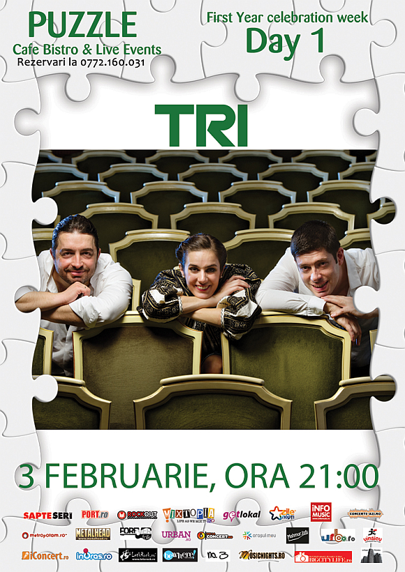 Concert Tri in Club Puzzle din Bucuresti