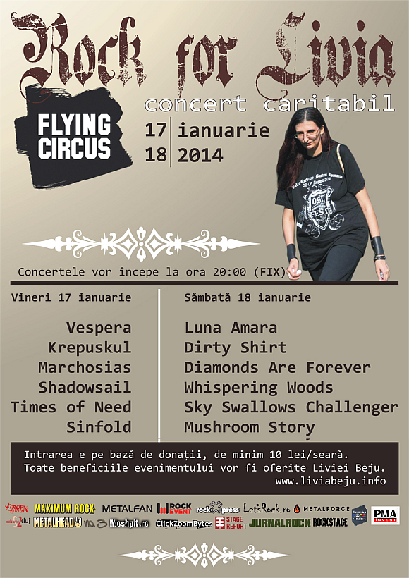 Rock for Livia in Flying Circus din Cluj-Napoca