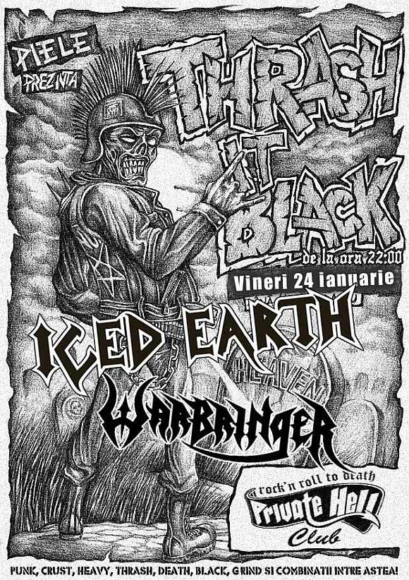 Warm-up party Iced Earth / Warbinger in Private Hell