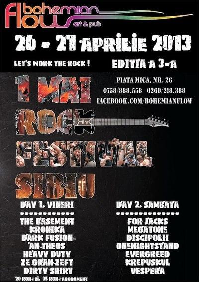 1 Mai Rock Festival Sibiu 2013 (a treia editie)