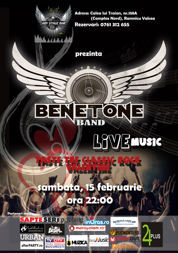 Concert Benetone Band Live in Aby Stage Bar din Ramnicu Valcea