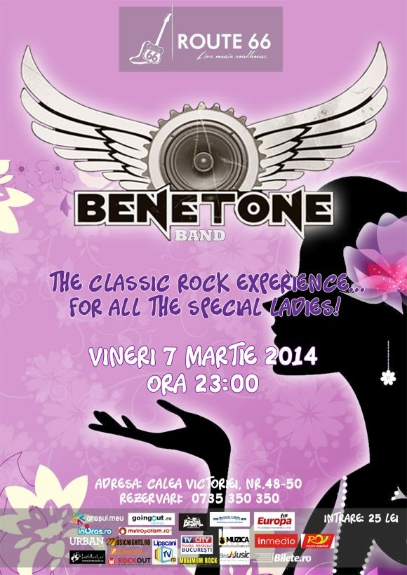 Concert Benetone Band Live in Route 66, 7 martie 2014