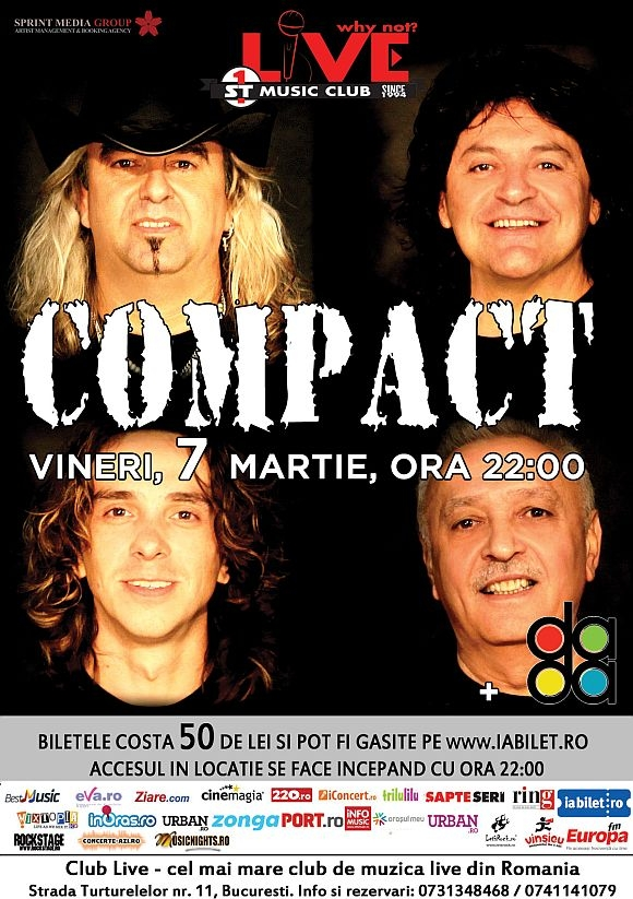 Concert Compact in Club Live din Bucuresti