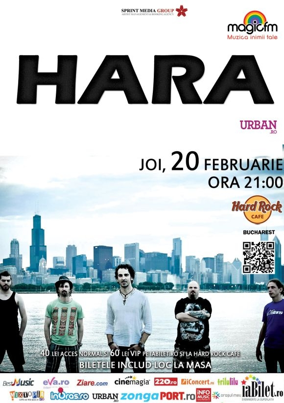 Concert Hara la Hard Rock Cafe din Bucuresti, 20 februarie 2014