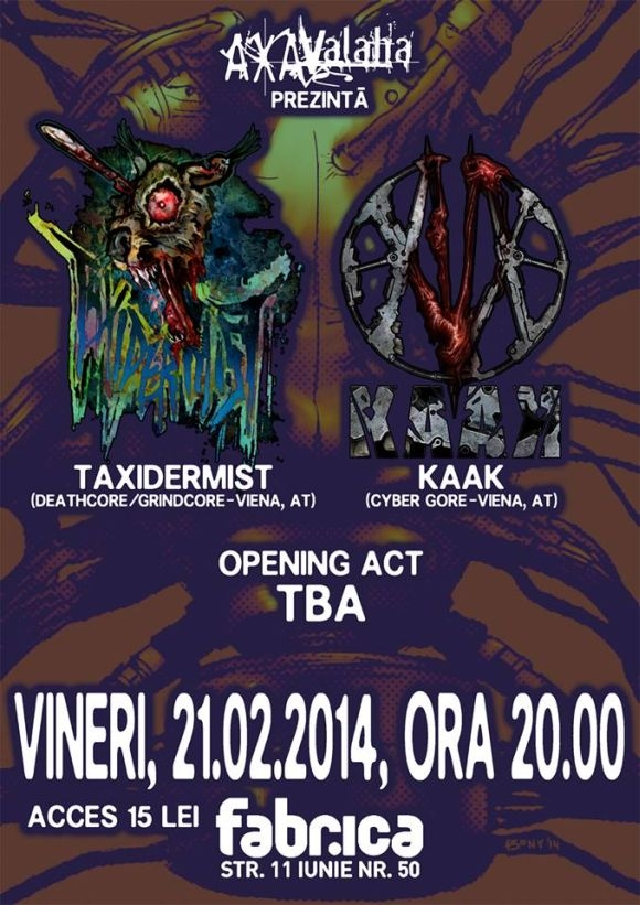 Concert Taxidermist si Kaak in Club Control