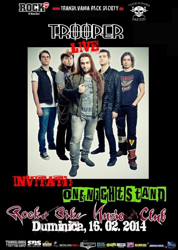 Concert Trooper si Onenightstand in Rock&Bike Music Club Sibiu