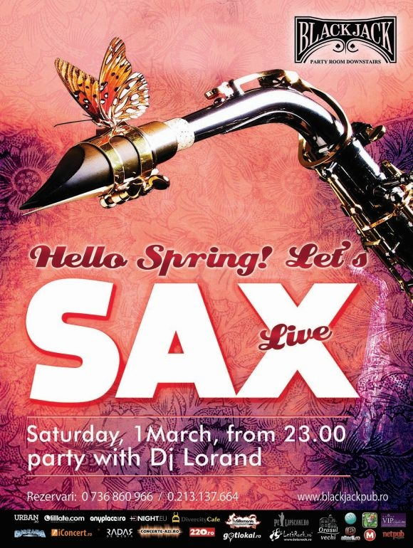 Live Sax in Black Jack Pub din Bucuresti