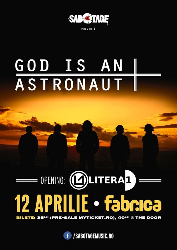 Primul eveniment Sabotage - God Is an Astronaut in Club Fabrica