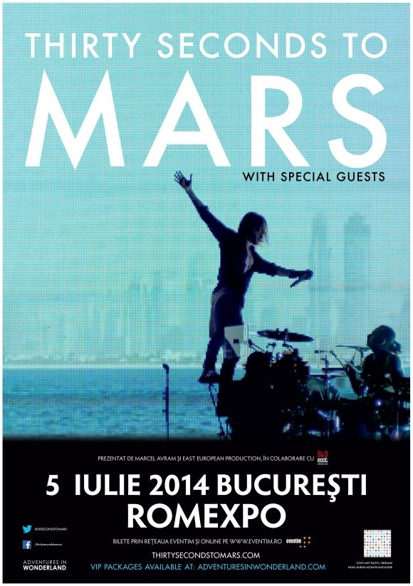 Show-ului Thirty Seconds To Mars la Romexpo are loc in 5 iulie 2014