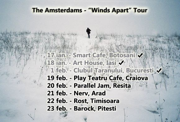 The Amsterdams continua turneul national 'Winds Apart'