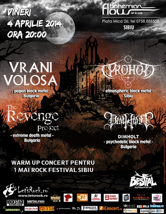 Vrani Volosa, Prohod, The Revenge Project, Dimholt - warm-up concert pentru 1 Mai Rock Festival Sibiu 2014