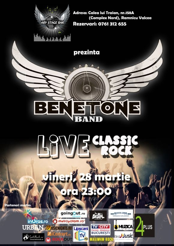 Concert Benetone Band in Aby Stage Bar din Ramnicu Valcea, 28 martie 2014