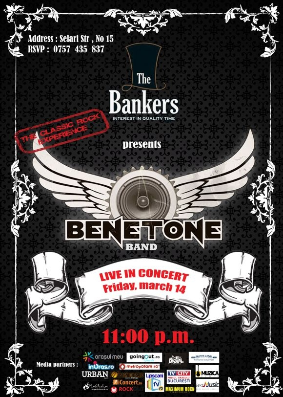 Concert Benetone Band in The Bankers, 14 martie 2014