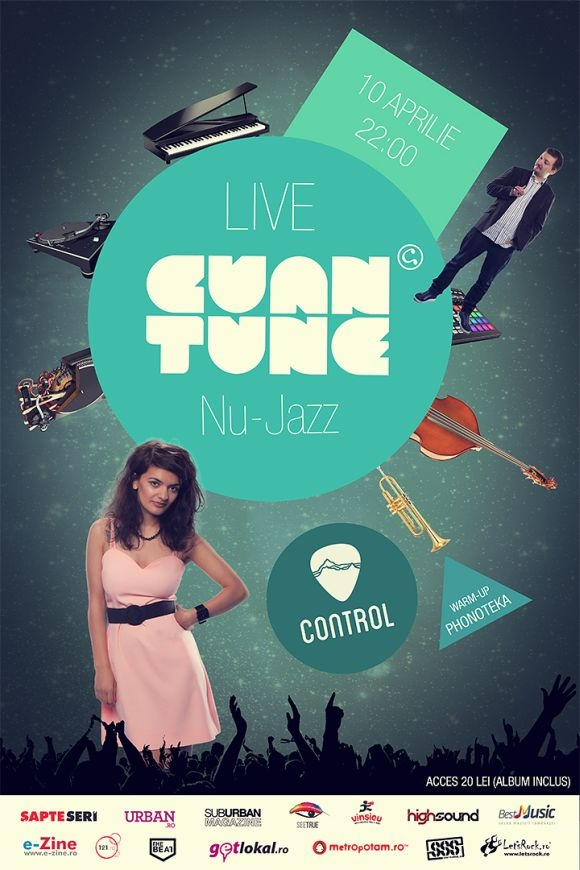Concert Cuantune in Control Club din Bucuresti