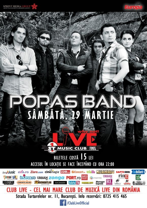 Concert Popas Band In Club Live Din Bucuresti Lets Rockro