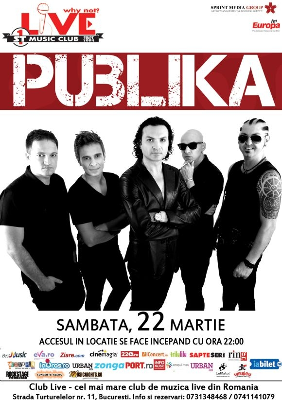 Concert Publika In Club Live Din Bucuresti Lets Rockro