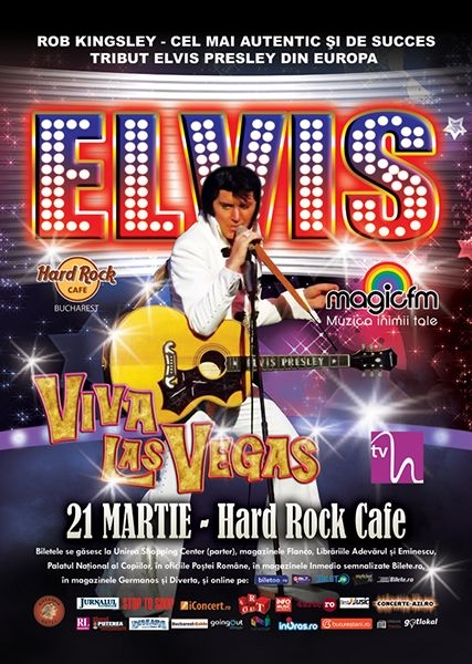 Concert Rob Kingsley – Tribut Elvis Presley la Hard Rock Cafe