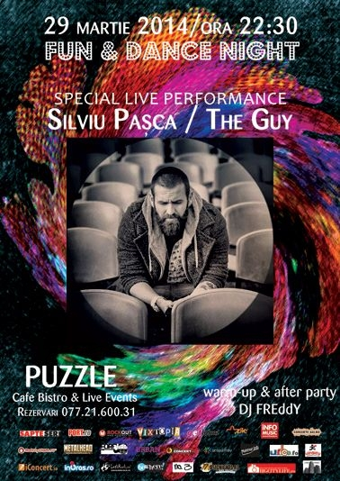 Concert Silviu Pasca – The Guy in Club Puzzle, 29 martie 2014