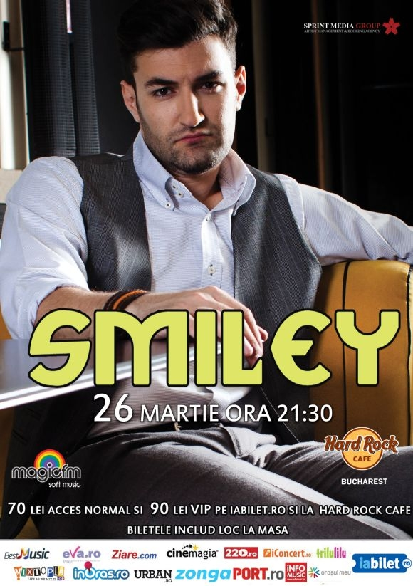 Concert Smiley la Hard Rock Cafe, 26 martie 2014