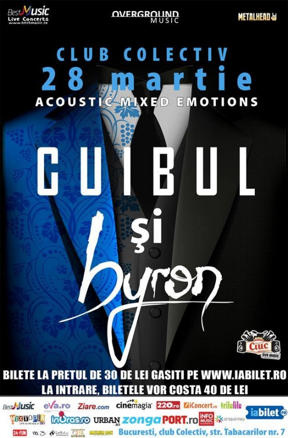 Concert byron si Cuibul in Club Colectiv, 28 martie 2014