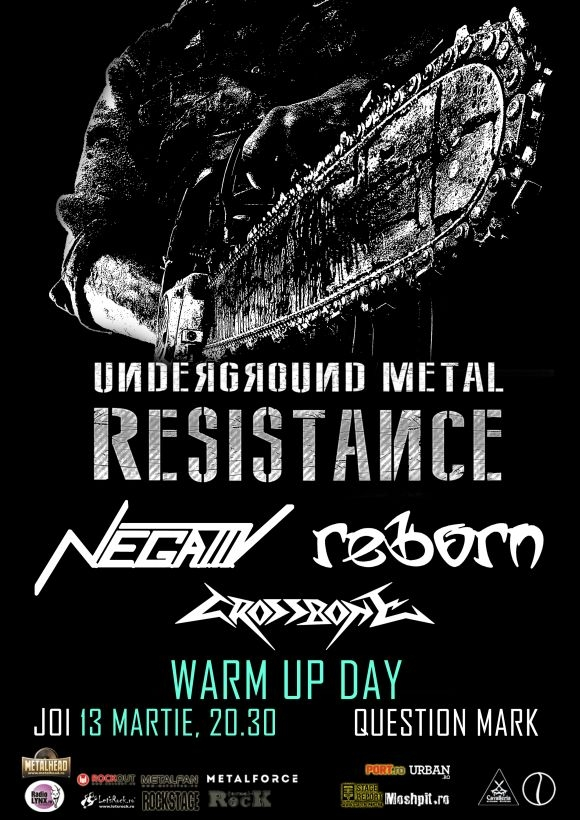 Line-up complet Warm Up Day la Underground Metal Resistance Fest 3 in Question Mark