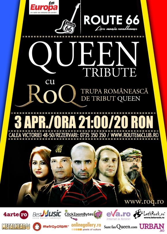 RoQ - Tribute to Queen in Route 66, 3 aprilie 2014