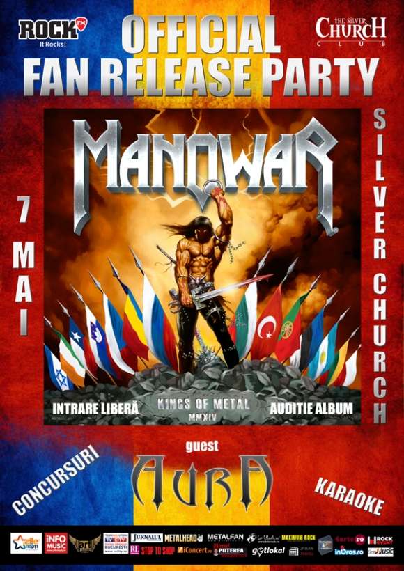 AURA canta la MANOWAR Release Party - pe 7 mai la Silver Church