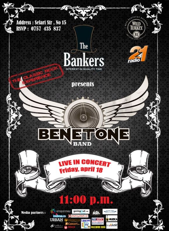 Benetone Band concerteaza in The Bankers