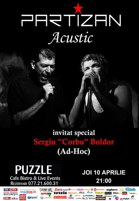 Concert Partizan acustic in Puzzle Club, Bucuresti