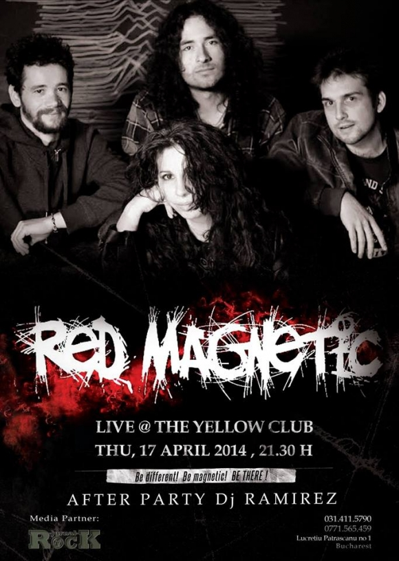 Concert Red Magnetic in Yellow Club din Bucuresti
