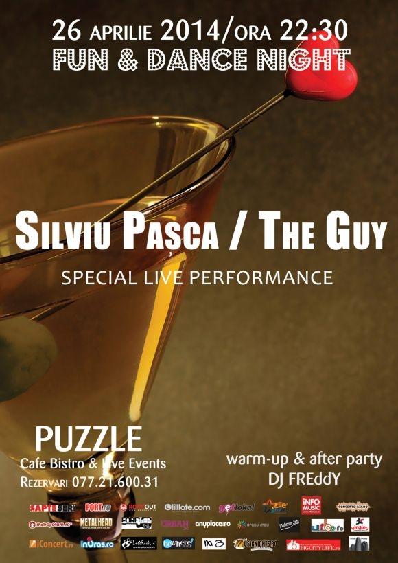 Concert Silviu Pasca – The Guy in Club Puzzle, 26 aprilie 2014