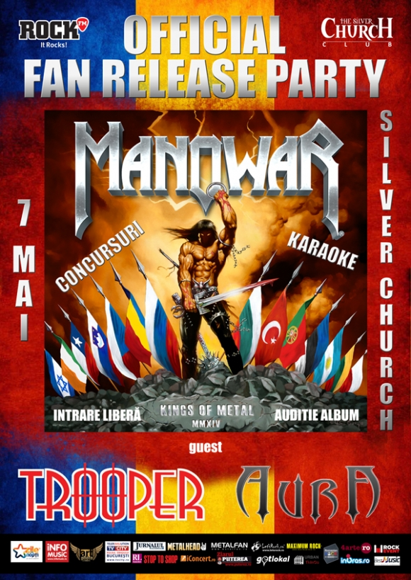 Trooper vine la Manowar Release Party - pe 7 mai in Silver Church