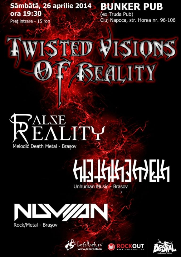 Twisted Visions Of Reality - False Reality, Hteththemeth si Nuvijan in Bunker Pub