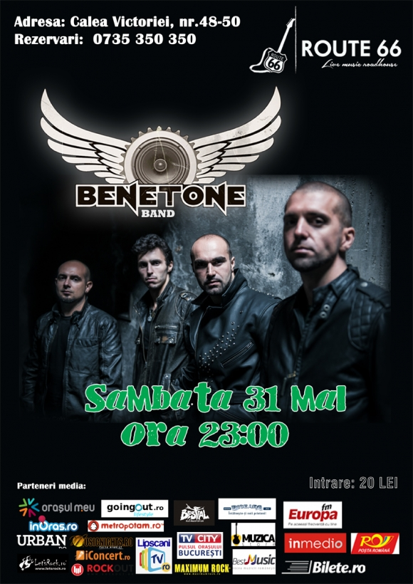 Benetone Band concerteaza in Route 66