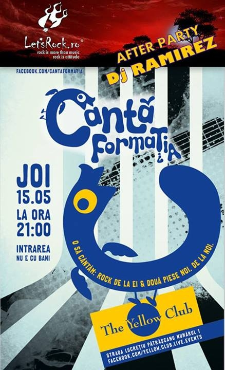 Canta Formatia in The Yellow Club